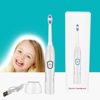 USB Rechargeable Electric Toothbrush Timing Ultrasonic Toothbrush for Children Kids Adults Sonic Toothbrush Soft 36000 R / Min