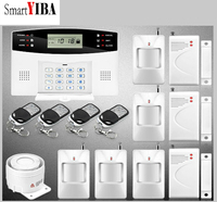 SmartYIBA Hot 99 Wireless 4 Wired Zones GSM PSTN Alarm Security Systems Home Remote Control Burglar