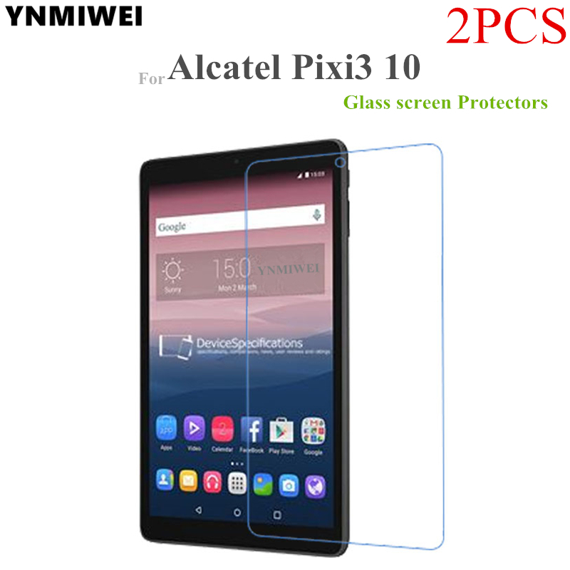 цена на 2PCS Glass Protector For Alcatel One Touch Pixi3 10.0 Tablet Screen Protectors For Pixi 3 10 9010X 8079 8080 glass film