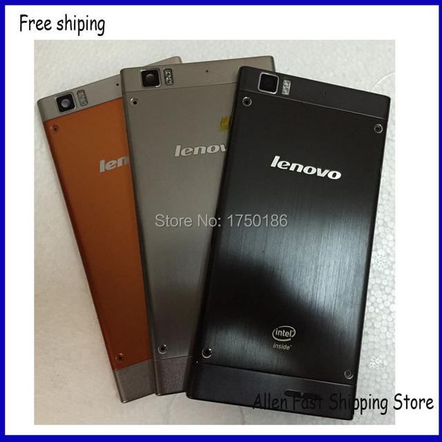 Tampa da caixa da porta da bateria original para lenovo k900 case com câmera com lente de vidro + botão, preto sliver orange, frete Grátis