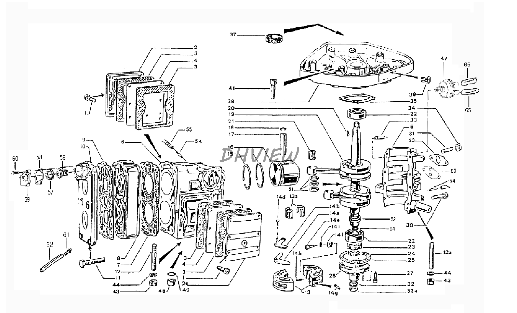 aftermarket 09263 27005 rn 27x37x22 brg part for suzuki outboard diagram of 1987 dt65crsh suzuki marine outboard transmission diagram [ 1790 x 1083 Pixel ]