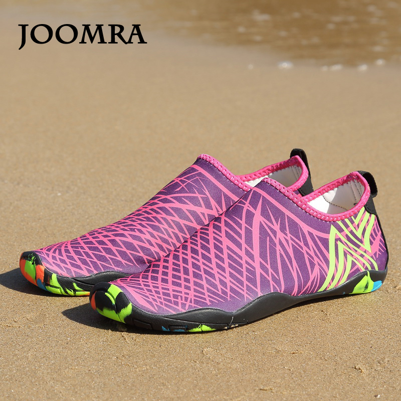 d48287f29797b3 Joomra Sneakers For Men Stretch Fabric Beach Water Shoes Summer 2018  Comfortable Sport Footwear Lightweight Outdoor Aqua Shoe-in Upstream Shoes  from Sports ...