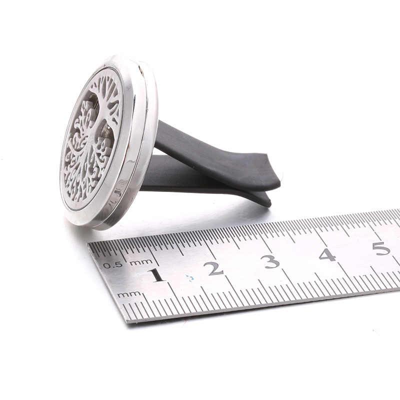 アロマ車スター花びらディフューザーステンレス鋼カーアクセサリー空気清浄香水エッセンシャルオイルディフューザー小箱
