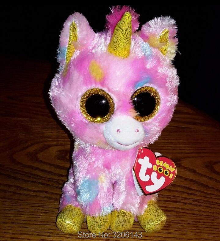 959a03c77d0 Ty Beanie Boo Unicorns Magic Wishful Pegasus Harmonie Pixy   Fantasia Big  Eyes Plush Stuffed Animals Collection Christmas Gift-in Movies   TV from  Toys ...