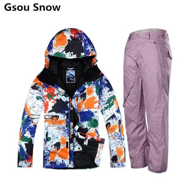 1ecc8189b71de GSOU SNOW горнолыжный костюм мужской, лыжный костюм мужской, лыжи горные  куртки, мужской лыжный