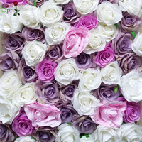 SPR Free Shipping 10pcs/lot Artificial rose & peony flower wall wedding backdrop artificial flower plastic panel wall