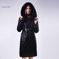 Модные зимние реального норки пальто длинный Стиль Утолщенной теплые кожаные меховые морозостойкие Тренч бюст Размеры 130 см