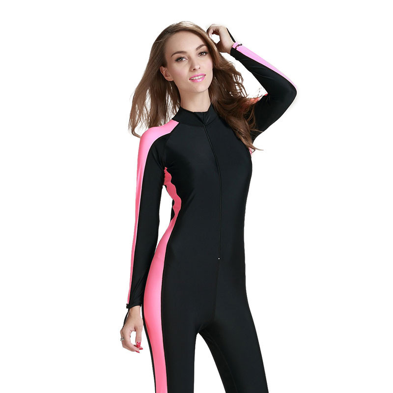 6120ccf23025e Sbart Women Long Sleeved Diving Suits Sunscreen One piece Conjoined  Swimsuit Snorkeling Jellyfish Female Suits-in Wetsuit from Sports   Entertainment  on ...