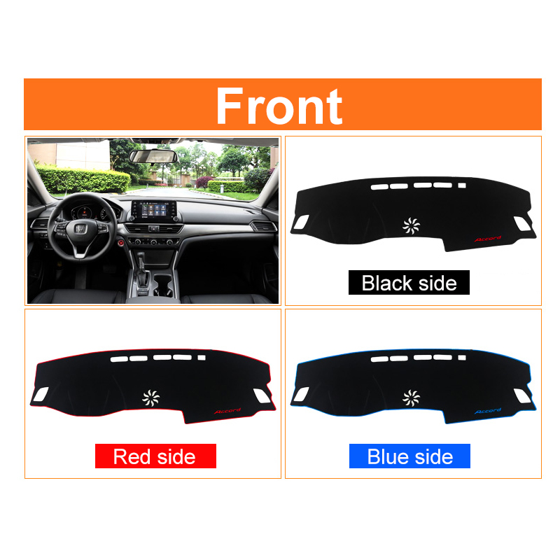 Image 5 - Car dashboard Avoid light pad Instrument platform desk cover Mats Carpet Anti UV LHD For Honda Accord 10th 2018 2019 Accessories-in Interior Mouldings from Automobiles & Motorcycles