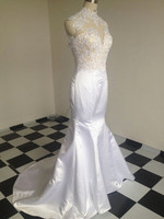 2015 New Arrival Ren Đính Beading Mermaid Evening Dresses Gowns Mở Lại Dài robe de soiree Custom Made Màu kích thước