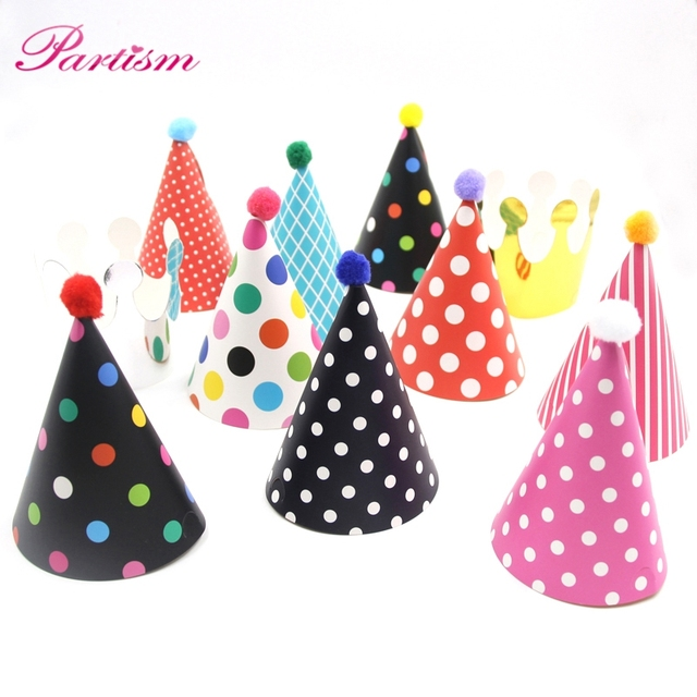 Christmas Party Hat Ideas Part - 17: 11PCS/Set Colorful Mini Birthday Hat DIY Paper Hats For Photographu0026Kids  Birthday/Wedding/