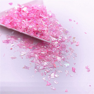 Image 4 - Lentejuelas de papel de concha Irregular para uñas, lentejuelas coloridas para decoración 3D para uñas, 20g por paquete
