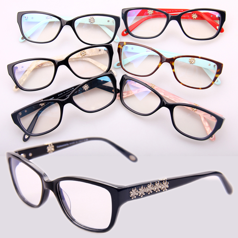 Brand New designing spectacle frames Inlaid flowers Optical frame ...