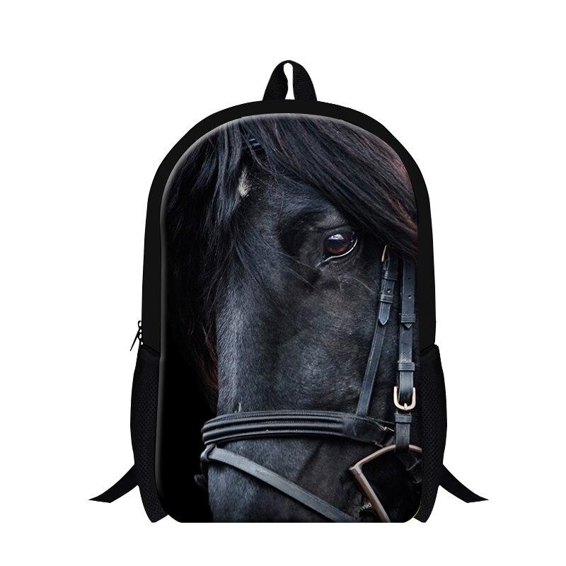 Dispalang Black Horse animal backpacks school bag for children boys Animal back pack fashion lightweight bookbags cool bagpack