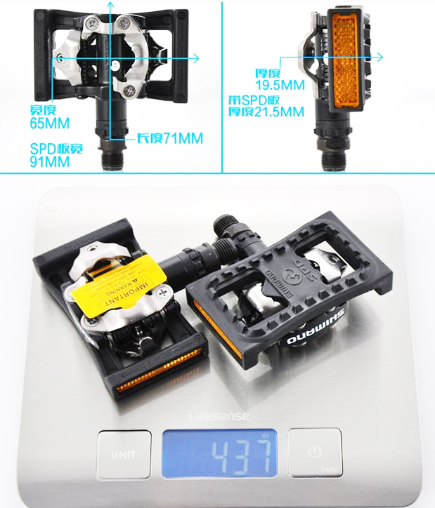 ФОТО original Japan PD-M505 SPD SEL-locking SPD mtb pedal with cleat and plat pedal