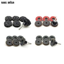 """20 pcs 2""""/50mm Roloc Grinding Disc Flap Wheel for Metal Finish + 1 piece Holder Nozzle Drill Kit"""
