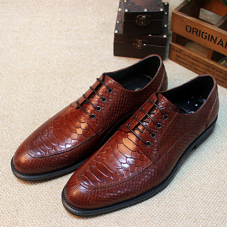 new mens fashion shoes genuine leather luxury dress shoes