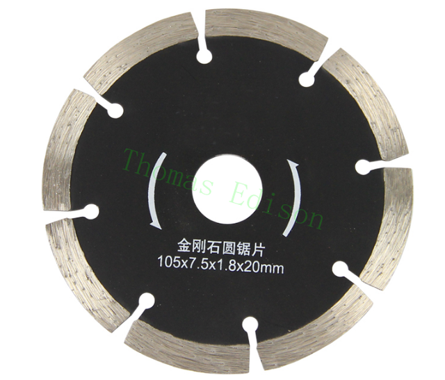4'' 105mm Stone cutting slice dry cut diamond marble saw blade ceramic tile cutting wall slotted saw blade