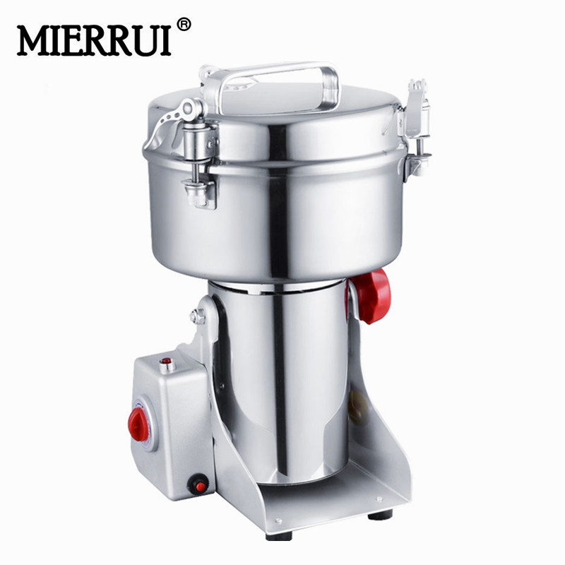 Hot Sale grinder for spices voltege 220V/110V stainless steel herb grinder machine 1000g Household electric medicine grinder 220v 600w 1 2l portable multi cooker mini electric hot pot stainless steel inner electric cooker with steam lattice for students