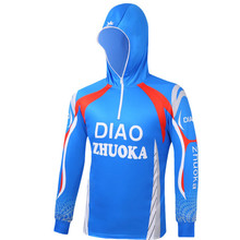 Unisex Hat Mask Fishing Clothing Hooded Long Sleeve Blue Sunscreen Anti UV Fishing Shirts Quick Dry Sports Clothes for Men Women блуза ruxara ruxara mp002xw0f70k