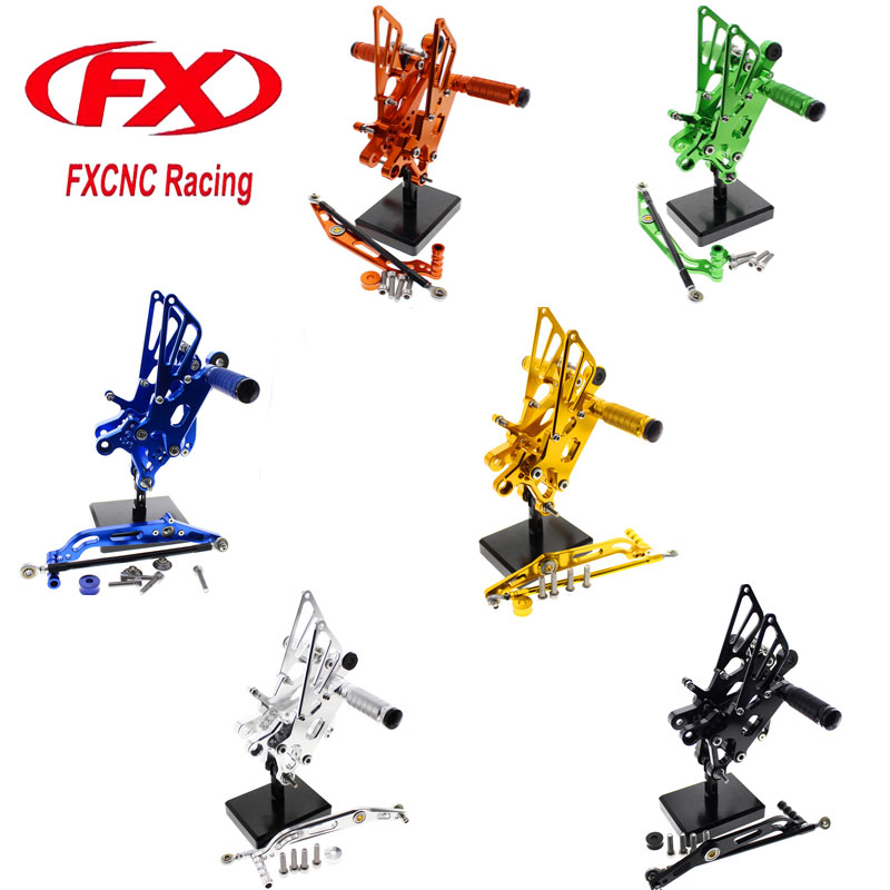 FX Motorcycle Foot Rests Pegs Adjustable Rear Sets Aluminum For YAMAHA YZF R6 2006 2007 2008 2009 2010 2011 2012 2013 2014 motorcycle mounting bracket kit for yamaha fz1 fazer 2006 2015 2007 2008 2009 2010 2011 2012 2013 2014