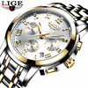 LIGE Men S Watches Military Luxury Brand Watch Mens Quartz Stainless Steel Clock Fashion Chronograph Watch