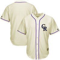 MLB Men S Colorado Rockies Baseball Cream Fashion Cool Base Ivory Team Jersey