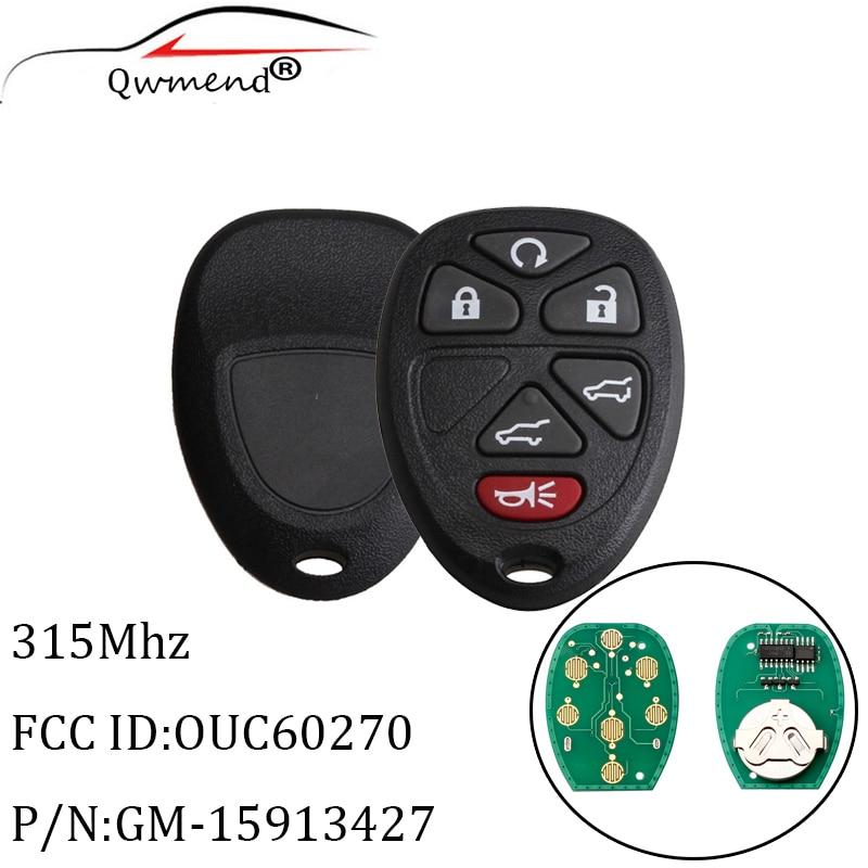 For 2007 2008 2009 2010 2011 2012 2013 2014 GMC Yukon XL Car Remote Key Fob