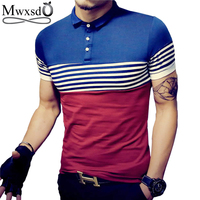 2016 Summer Men Casual Stripe Polo Shirt Men S Short Sleeve Slim Fit Cotton Polo Shirts