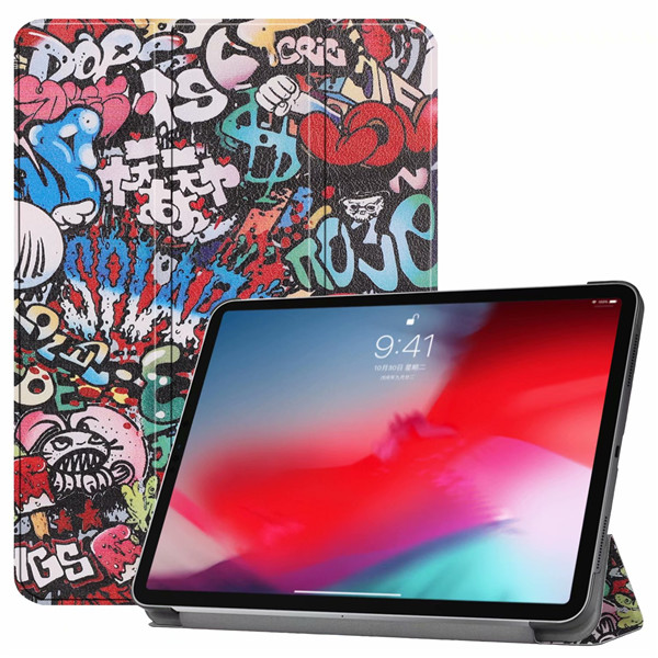Graffiti iPad Pro3 11 2018 smart case with different patterns