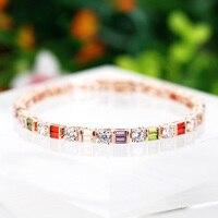 B170331 Novas cores zircão bracelete de cristal cor de zinco liga de prata cor de rosa de ouro com a Áustria cristal moda senhora jóias