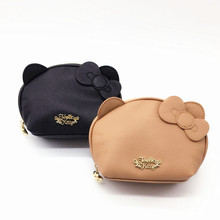 Hello Kitty PU Leather Cosmetic Bag Women Makeup Bag Pouch Hellokitty Cosmetic B