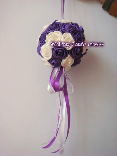 Novo !! 12pcs X (20cm) umetno viseča cvetlična kroglica poročna - Prazniki in zabave - Fotografija 4