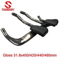 TOSEEK Full Carbon Rest Bar TT Handlebar Set Road Bike Mtb 31 8 400 420 440