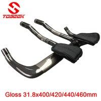 Full Carbon Rest Bar TT Style Handlebar Set Road Bike Mtb 31 8 400 420 440