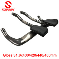 Full Carbon Rest Bar TT Style Handlebar Set Road Bike Mtb 31 8 400 420 440