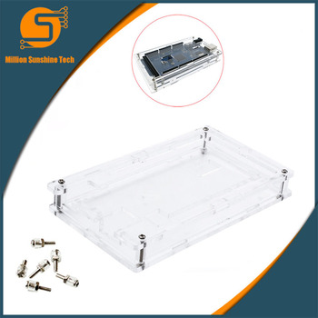цена на Enclosure Transparent Gloss Acrylic Box Compatible for arduino Mega 2560 R3 Case