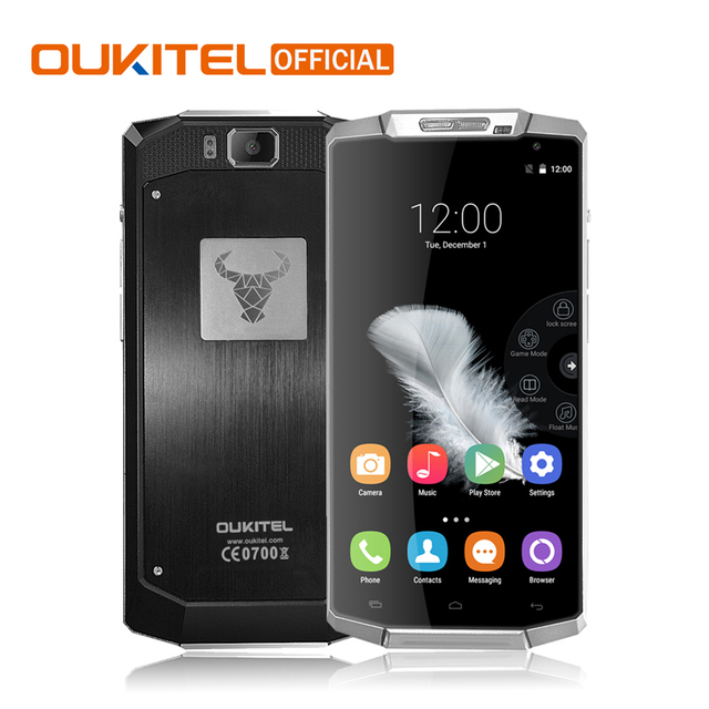 Oukitel K10000 Smartphone 5.5 pouce Quad Core Android 6.0 Téléphone portable MTK6735P 2 GB RAM 16 GB ROM 10000 mAh 4G FDD LTE Mobile Téléphone