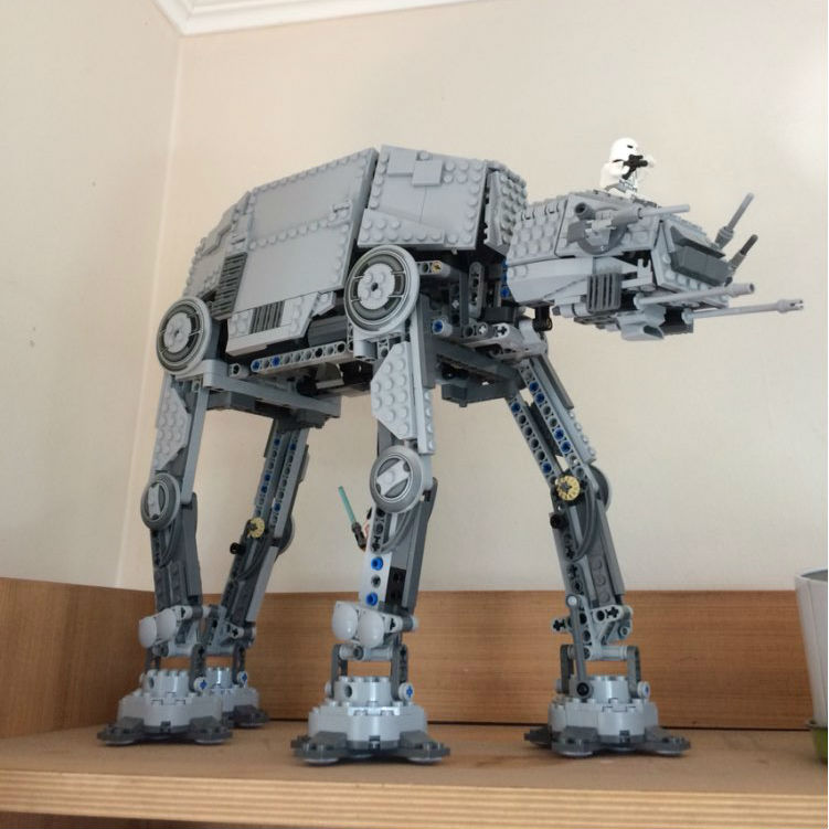 Star Wars Series Motorized Walking AT-AT Lepin 05050 1137Pcs Building Blocks Bricks Compatible 10178 Educational Toys Gifts