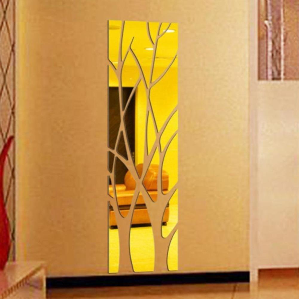Home Decor Art Tree Wall Sticker Removable Mural Decal: Home Room Decor Fashion Mirror Wall Sticker Tree Modern