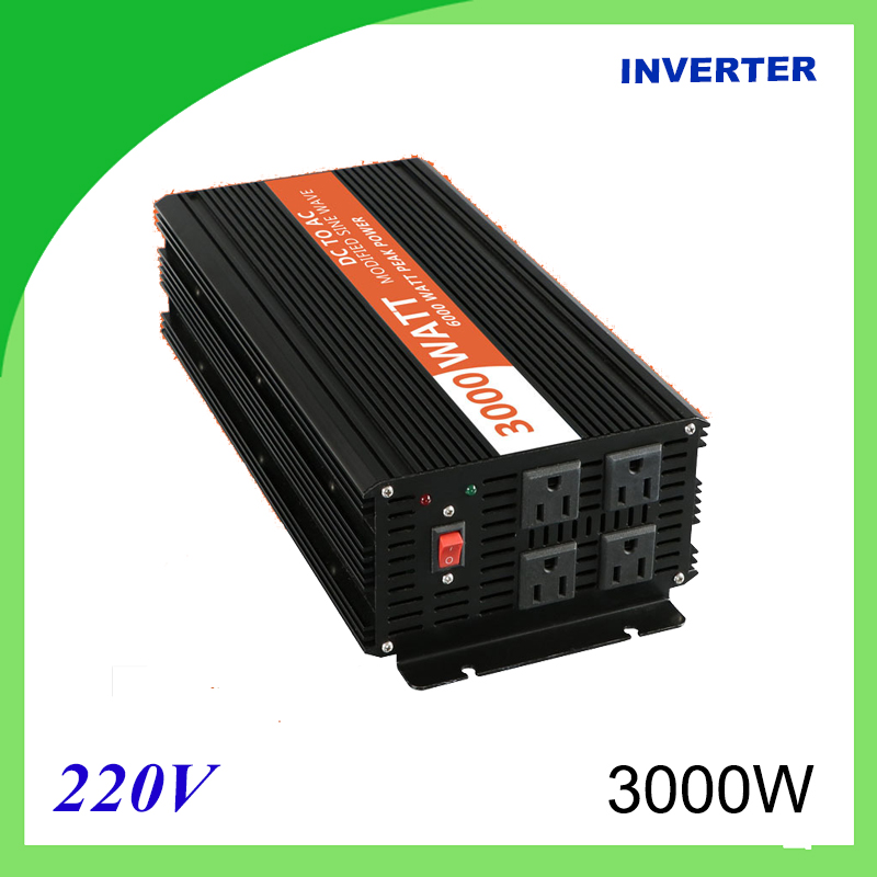 3000W Voltage Converter To 220V Modified Sine Wave Power <font><b>Inverter</b></font> 12V/24V 220V DC image