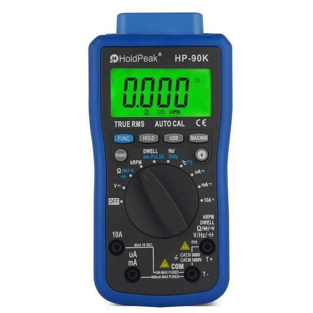 2017 New Engine Analyzer Tester Holdpeak Hp-90k Auto Range Digital Multimeter / Car Diagnostic Tool With Data Output By Usb holdpeak hp 90epc multimetro digital usb multimeter dmm auto range tester lcd ammeter capacitance meter pc data transmission