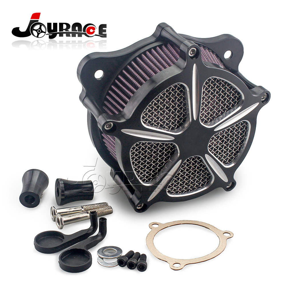 Deep Cut Speed Air Cleaner Intake Filter For Harley Touring Electra Street Glide Road King 2008 UP