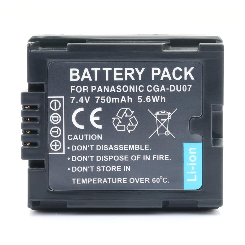 LANFULANG Camcorder Digital Battery Compatible For Panasonic CGR-DU06 VW-VBD070 NV-GS47 NV-GS50 NV-GS27 SDR-H20 NV-GS57 NV-GS58 dste vw vbk360 4500mah battery for panasonic hs80 sd80 hdc dx3 tm90 sdr h101 h85 s70 t71 camcorder