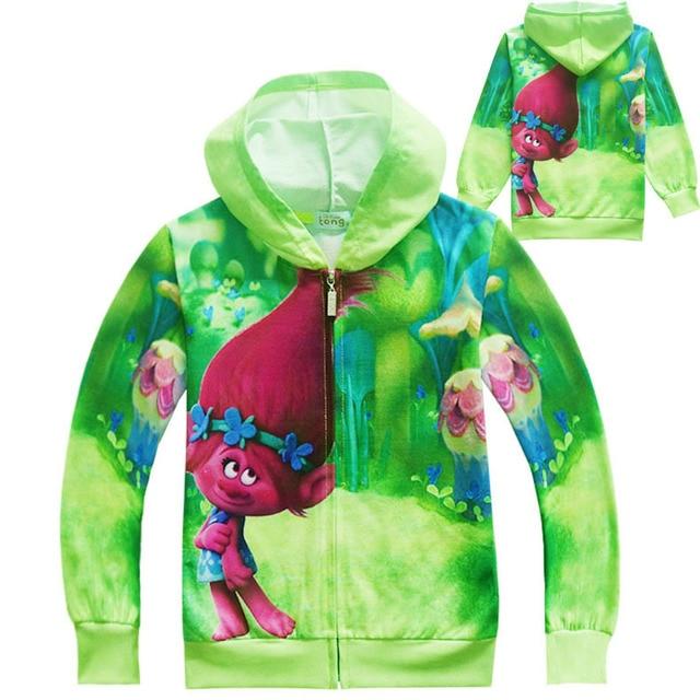 9d2a841d2847f EMS/DHL Free shipping 2017 New Trolls Boy Girl Child Spring Autumn Trolls's  sweater coat girls zipper cardigan coat jacket -in Jackets & Coats from ...