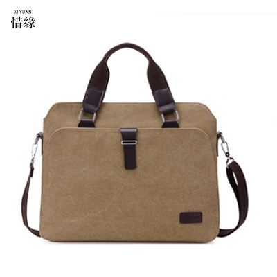 2017 Retro Men Briefcase Business Shoulder Bag Canvas Messenger Bags Man Handbag Tote Bag Casual Travel crossbody Bag Sac Hommes
