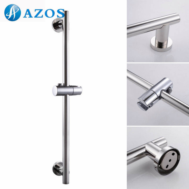 Bathroom Accessories Shower Head Holder Slider Bar Round Wall Mount ...