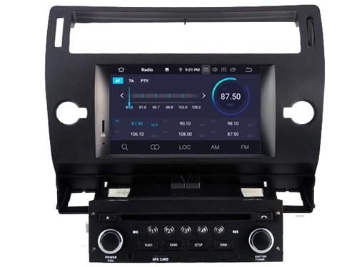 Quad Core Android 9 0 Car DVD player for Citroen C4 car audio multimedia gps head