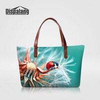 Dispalang Personalidad Diseño de Insectos Shopping Tote Bolsos Para La Mujer Fashion Girls Verano de la Playa de Las Señoras de Viaje Bolsa de asa Superior