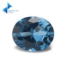 Размер 3x5 ~ 10x12 мм овальной формы 106 # синий камень Блестящий